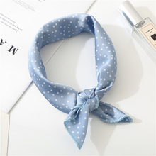 2019 New Women Scarf 50*50cm Spring Autumn Dot Point Small Square Scarves Female Headband Wrist Wrap Head