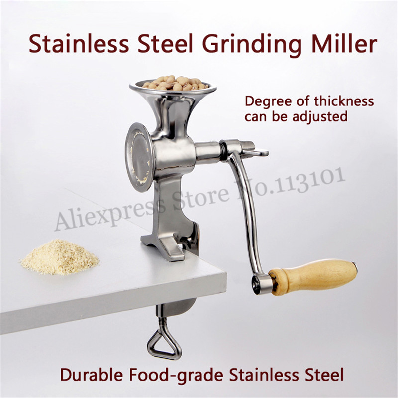 Stainless Steel Grinding Miller Corn Flour Mill Machine Coffee Bean Grinder Wheat Corn Flour 220v 50 hz thick corn 160 wheat bean green bean millet millet peeling machine peeling machine wheat machine yield 60 90kg h