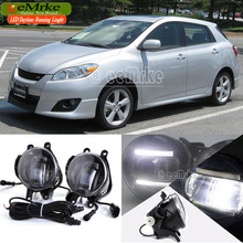 eeMrke Car Styling DRL For Toyota Matrix 2009+ 2in1 Brighter LED Fog Light Lamp With Q5 Lens Daytime Running Lights
