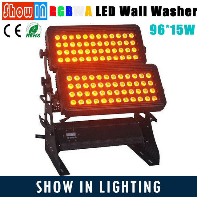 96PCS 15W RGBWA 5in1 LED City Color Light Wall Washer DMX DJ Disco Party Wedding Stage Lighting Equipment With Flightcase