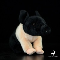 שחור פנמה חמוד בובות סימולציה גדול קטן חזיר חזיר בפלאש צעצוע לילדים לחג המולד