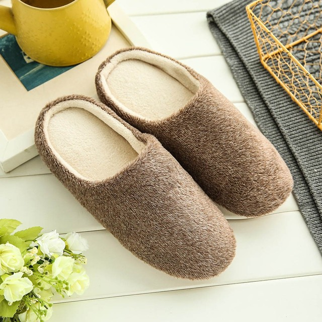 Soft Plush Home Men Indoor Cotton Shoes 1