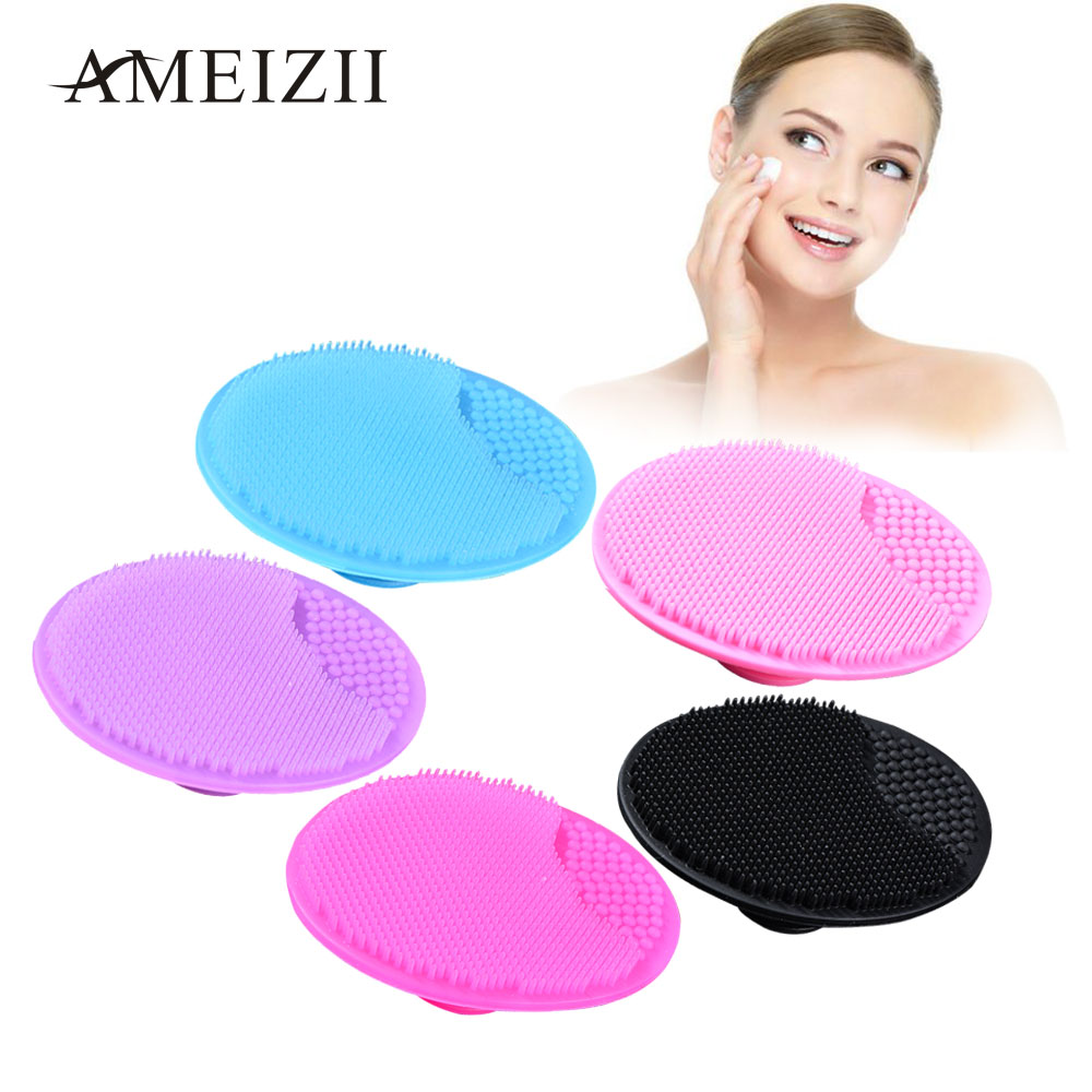 AMEIZII Face Wash Brush Soft Silicone Facial Cleansing Brushes Exfoliating Blackhead Remover Face Skin Care SPA Scrub Pad Tools-in Face Skin Care Tools from Beauty & Health on Aliexpress.com | Alibaba Group