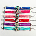 24pcs New Design Fashion Super pop singer Soy Luna bracelets Elenco de Soy Luna Photo silver Bangle I'm moon bracelet wholesale