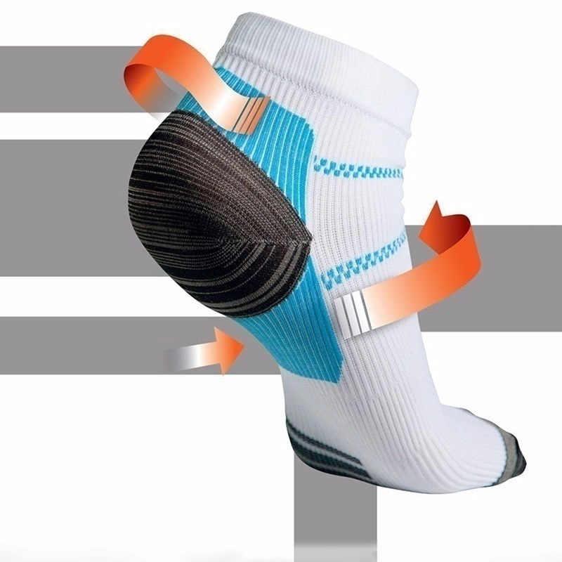 새로운 패션 스포츠 남성 여성 unisex 발 압축 양말 발바닥 근막 염 발 뒤꿈치 박차 아치 통증 통기성 양말