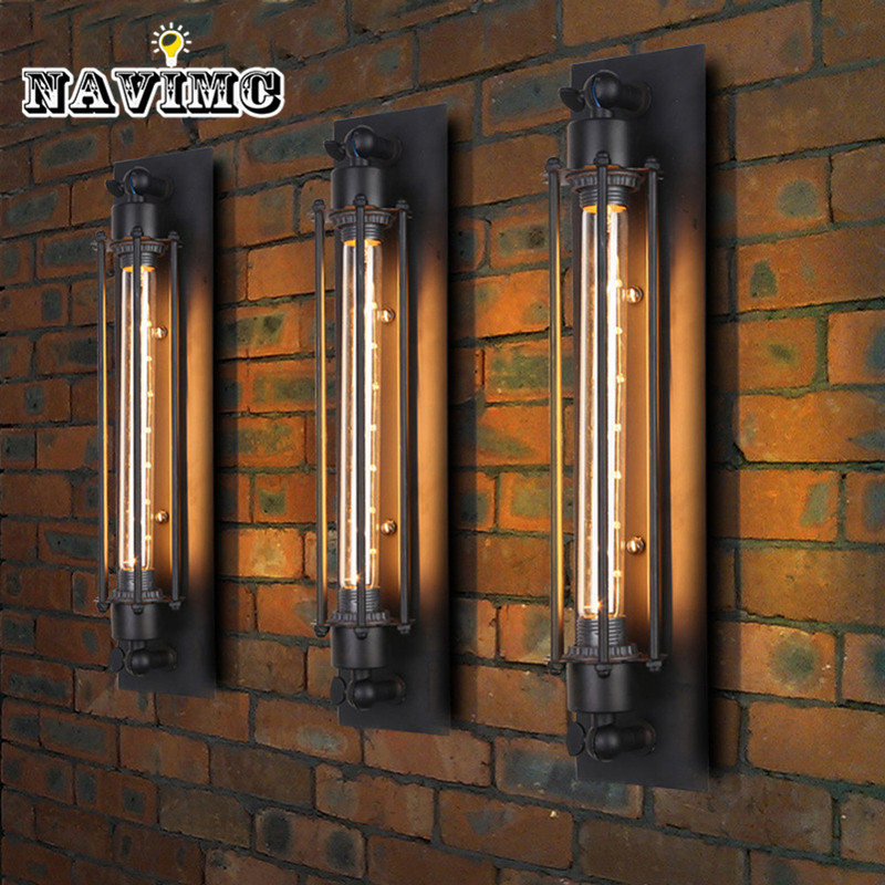 1 PCS Loft Vintage Wall Lamps American Industrial Wall Light Edison Light E27 Bedside Wall Fixtures Home Decoration Lighting loft american edison vintage industry crystal glass box wall lamp cafe bar coffee shop hall store club