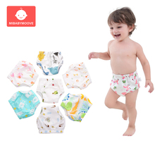 New Baby Cotton Training Pants Panties Diapers Washable Reusable Cloth Diaper Waterproof Girl Boys Childrens Nappy Changing