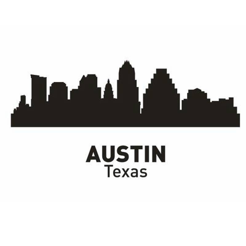 product Austin City Decal Landmark Skyline Wall Stickers Sketch Decals Poster Parede Home Decor Sticker