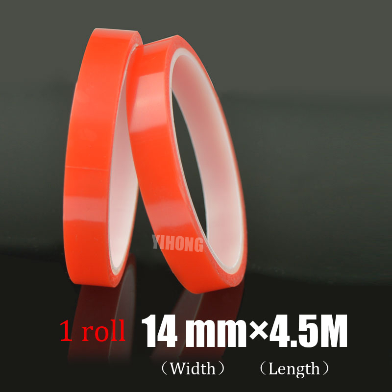Hot Sale 14 mm*4.5m Red Liner Transparent Banner Tape No Trace For Phone Camera Display, Battery, Lens