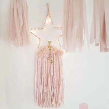 Star Shape Wooden Wind Chimes With Beads Tassels Dreamcatcher Nordic Kids Room Decoration Nursery Wall Hanging Ornaments Props