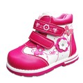 Nueva lindo 1 par Flor de Otoño zapatilla de deporte de Moda zapatos de Los Niños, niños PU chica Cuero Zapatos de interior de 13-16.2 cm