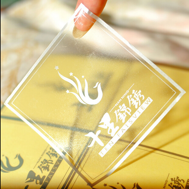 Pvc transparent stickers custom label sticker logo printing adhesive sticker gift packaging sticker