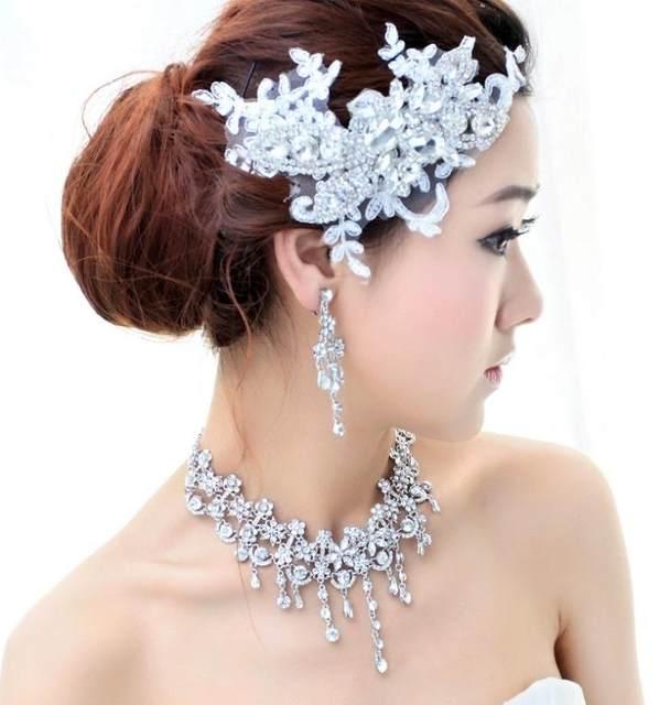 Online Shop Crystal Bridal Hair Jewelry Rhinestone Headbands Wedding ...