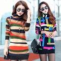 Толстая высоким воротником кашемировый вязаный шерстяной кашемировый свитер зимой разделе свитер женщин