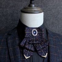 New Free Shipping Fashion Casual Men S Male Woman High Grade Diamond Collar Ribbon Tie Korean