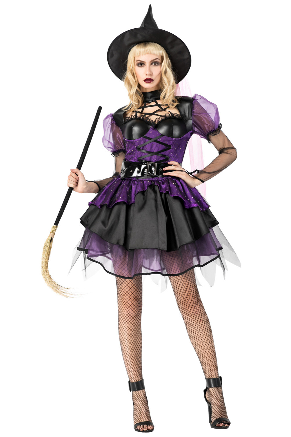 black gothic carnaval sexy evil witch cosplay costumes girls halloween witch party dress