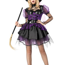 COSMORE black gothic carnaval sexy evil cosplay costumes girls halloween witch party