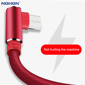 1M 2M 3M Data Micro USB Charger Android 90 Degree Cable for Samsung S5 S6 S7 A3 A5 J5 J7 Xiaomi Redmi 4X Note 4 long Cord Charge(China)