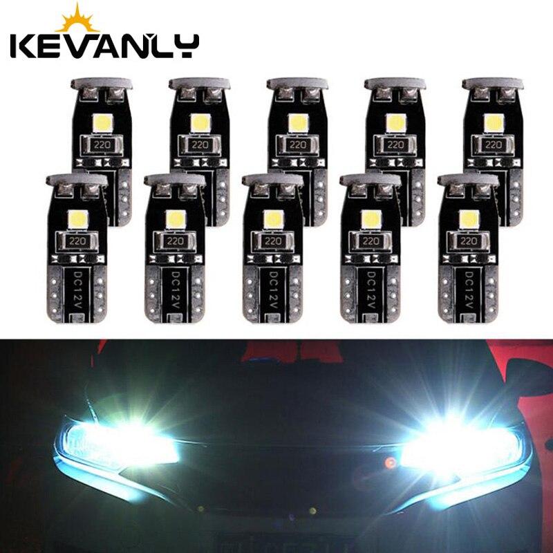 10pcs/lot w5w led T10 3030 T10 192 194 168 W5W LED Bulbs 3 SMD Car clearance Lights interior Lamp White DC12V Canbus Error Free