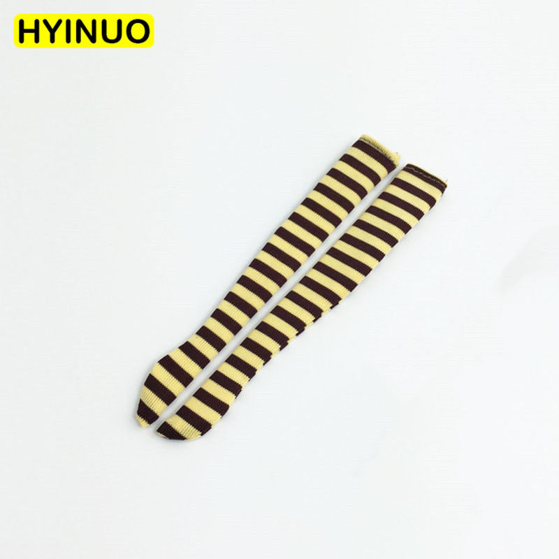 2 Color Suit Toys <font><b>1/6</b></font> <font><b>Scale</b></font> Stripe <font><b>Female</b></font> High Socks Fashion Stockings <font><b>Clothes</b></font> Clothing Set For 12