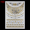 New fashion hot metal tattoo women Flash tattoos female temporary necklace sex products becomes