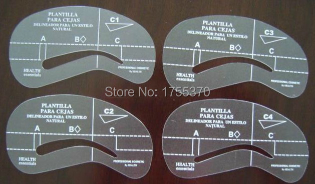 DIY Beauty Stencils Tools Accessories 4pcs/Lot Styles Grooming Eyebrow Template Stencils Kit Makeup Shaping 1