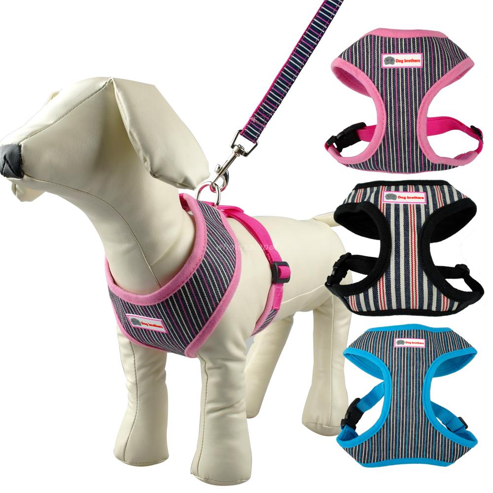 Cute Pattern Puppy Cat Pet Small Dog Harness Vest & Leash Set For Chihuhua S / M / L / XL