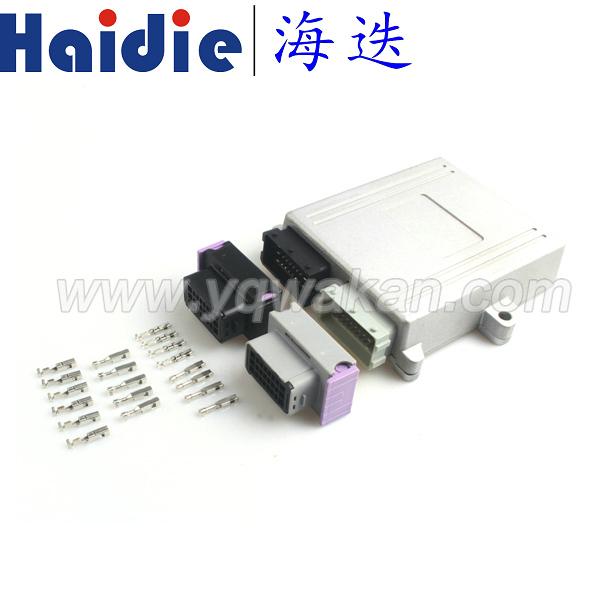 Free shipping 1set 24pin/48pin ECU shell connector plug car on-board controller panel circuit board connector with Aluminum box free delivery car engine computer board ecu 0261208075