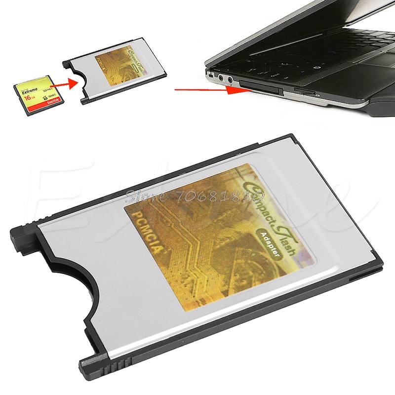 Compact Flash CF To PC Card PCMCIA Adapter Cards Reader For Laptop Notebook Drop Shipping