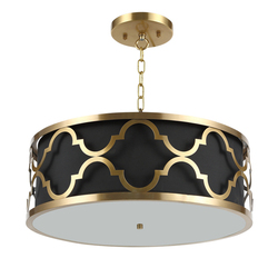 Nordic miedziany żyrandol światła nowoczesne żelaza lampa wisząca czarny Dia.50cm zawieszenia oprawy metalowe oprawy oświetleniowe proste luksusowe w Wiszące lampki od Lampy i oświetlenie na