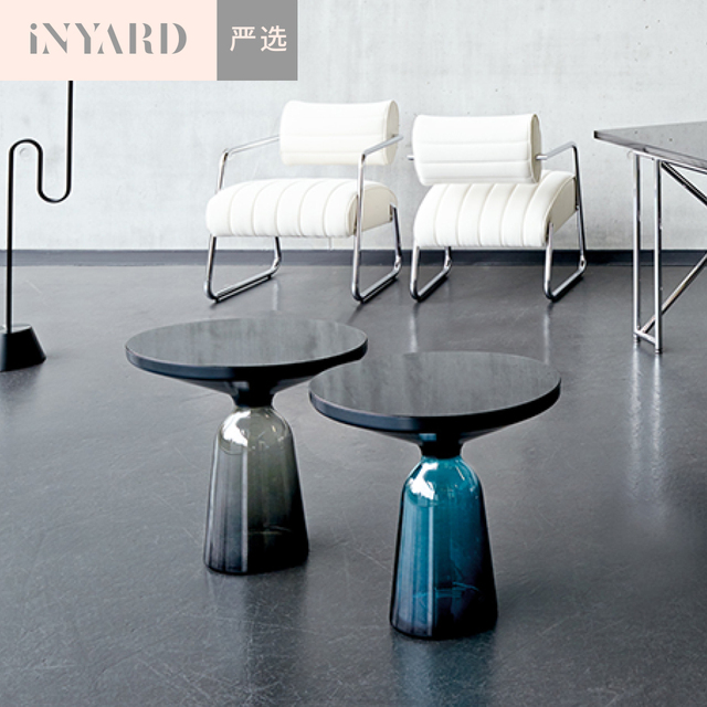 """""""InYard selected"""" Nordic wind minimalist replica handmade glass bell coffee table several edge angle"""