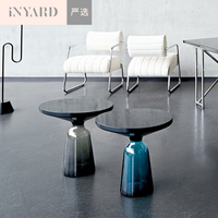 InYard Selected Nordic Wind Minimalist Replica Handmade Glass Bell Coffee Table Several Edge Angle