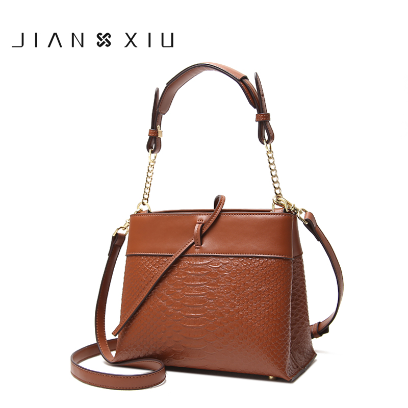 JIANXIU Brand Fashion Women Leather Handbags Crocodile Pattern Messenger Bags Sac a Main Small Shoulder Crossbody Bag Chain Tote aou new women classic bag brand chains bags women s fashion shoulder bag red celebrity crossbody bag sac a main china gift