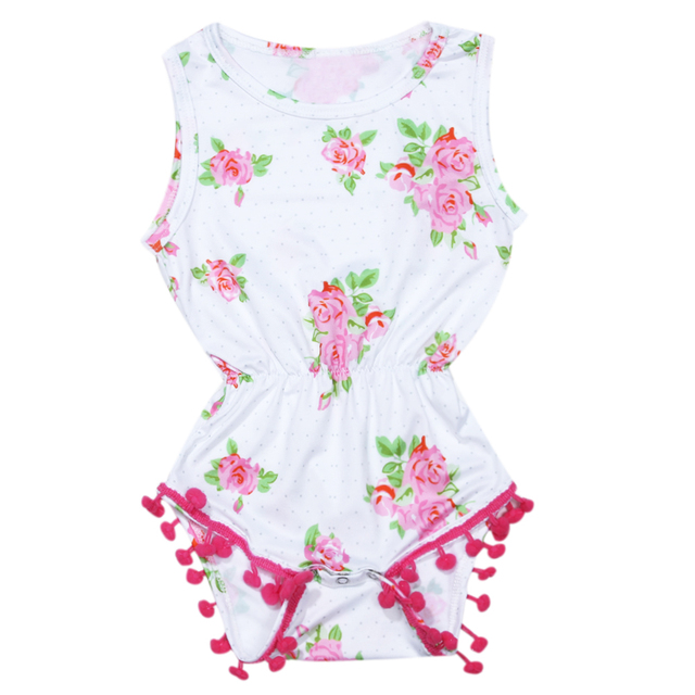 4369302a1ea8 Newborn Baby Girl Clothes Summer Floral Romper One-piece Sunsuit Outfit Clothes  Kids Clothes Girls Toddler Girl Clothing