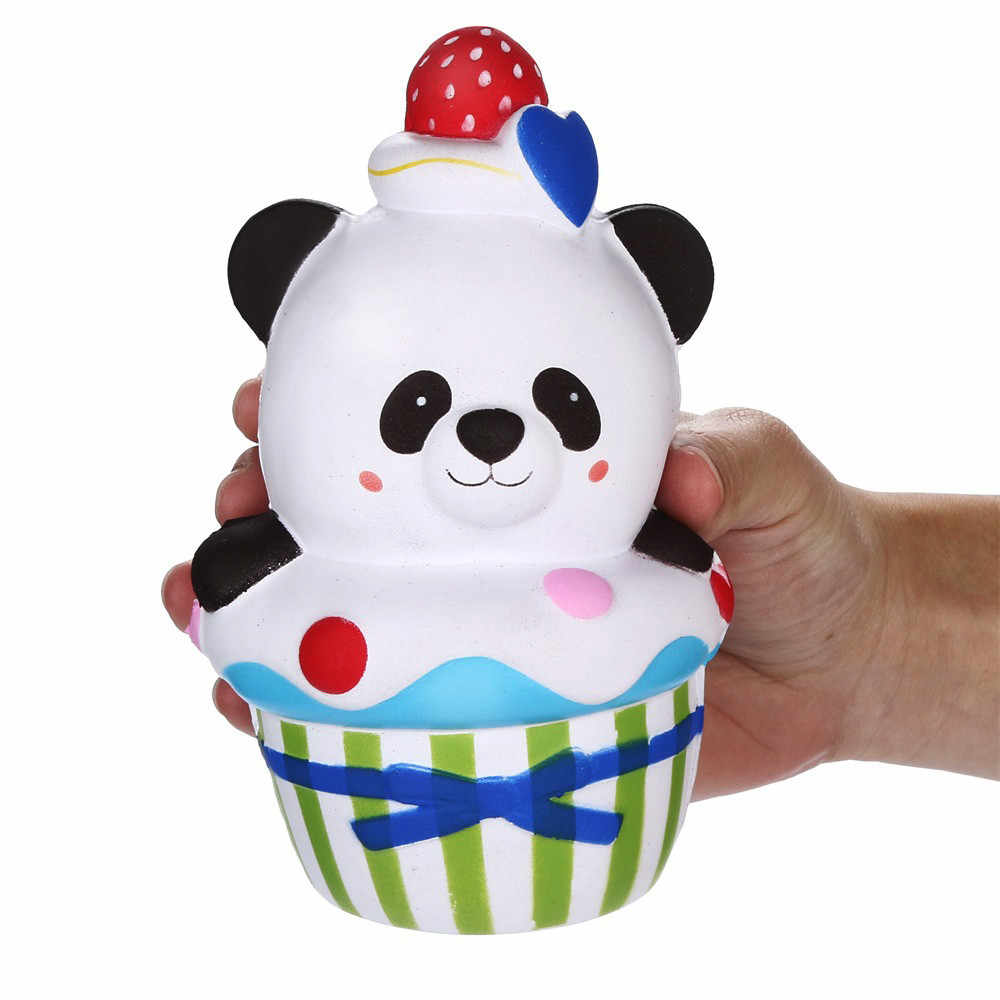 HOT! Sprzedaży Squishies ciasto truskawkowe Panda powolne rośnie owoce pachnące stres Relief zabawki wycisnąć zabawki Drop Shipping Jan11
