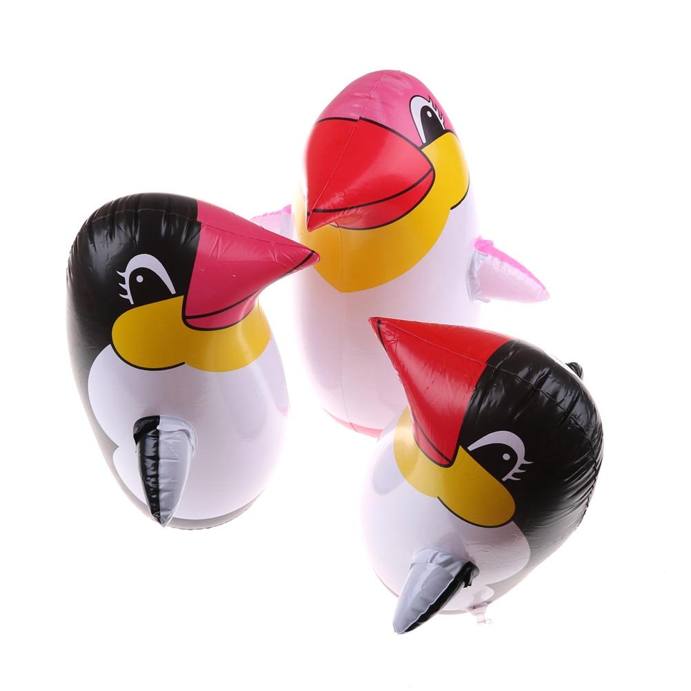 Aufblasbares Stehaufmännchen Kinderbadespaß Pinguin