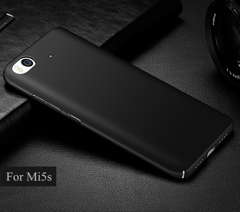 Free tempered glass! For Xiaomi Mi 5s case matte pc back cover case for mi5s cases and covers original accessories