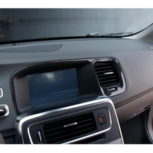 One-Piece Car-Styling Center Control GPS Navigation Frame Decoration Sticker Suitable for Volvo S60 S60L V60 Car Accessories