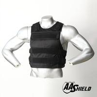 AA Shield Ballistic Suit Body Armour Vest Comfortable Bullet Proof Aramid Core Insert Safety M/L Black Level NIJ IIIA &HG2