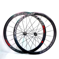 700C C6.0 super light aluminum road bicycle sealed bearing wheelset flat spokes racing 40mm rims
