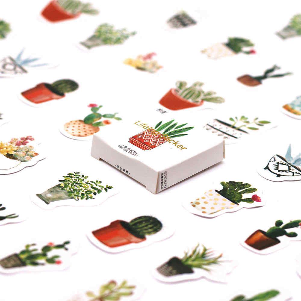 45 unidades/pacote kawaii caderno bonito cactus padrão planejador material escolar diário agenda viajantes diariamente memorandos defter