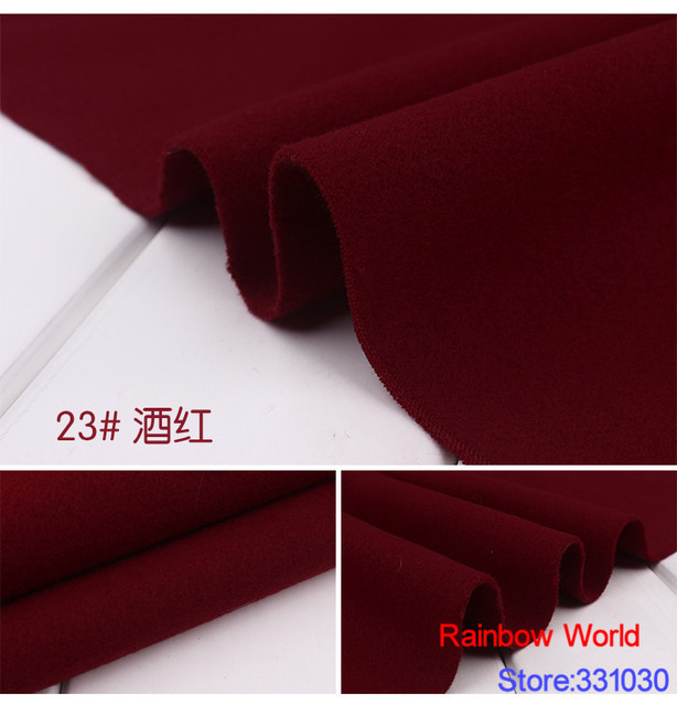 23 Deep Red 1 Meter Double Brushed Middle Thick Cloth Fabric For Diy Colthes Dress
