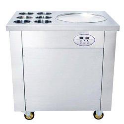 Temperatura regulowana komercyjne wykorzystanie rolki lodu krem płaski pan maszyna do lodów tajskich|Roboty kuchenne|   -