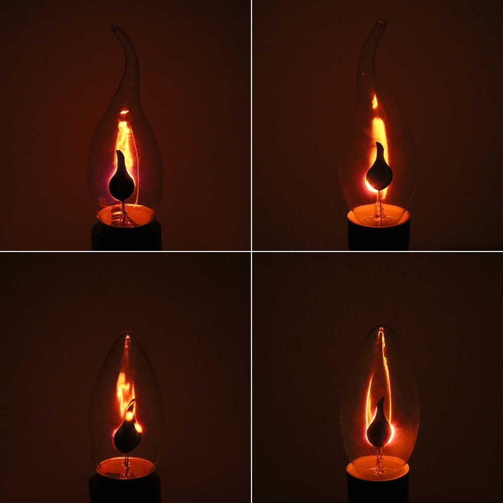 ITimo 3W flamme feu éclairage E14 E27 Vintage effet scintillant roman bougie pointe lampe tungstène Orange rouge LED Edison ampoule