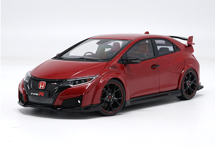 1:18 Diecast Model for Honda Civic TYPE R 2016 Red Alloy Toy Car Miniature Collection Gifts TYPER MK10 1 43 diecast model for honda civic 2016 mk10 white alloy toy car miniature collection gifts