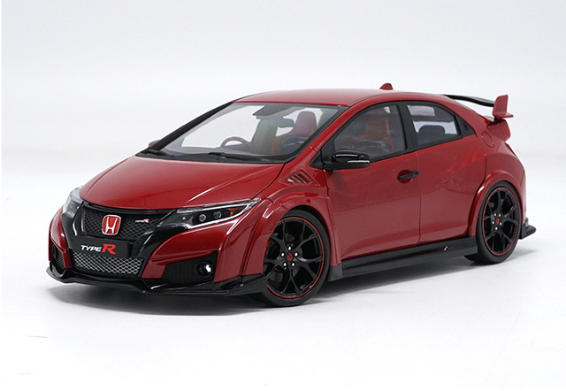 1 18 Diecast Model For Honda Civic Type R 2016 Red Alloy Toy Car