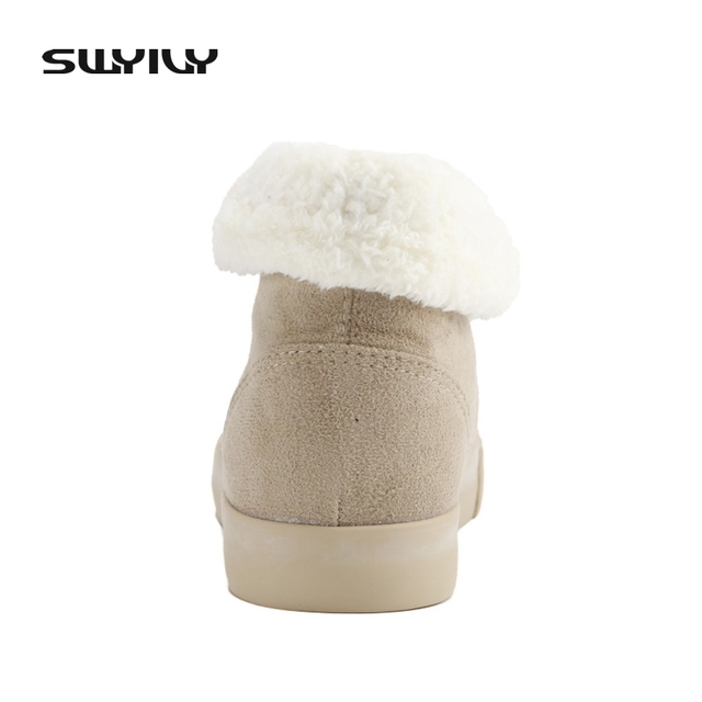 Sale 2017 Hot-Selling Spring Autumn Winter Velutinous Thermal Liner Snow Boots High-Top High Increased Winter Boots Shoes Woman