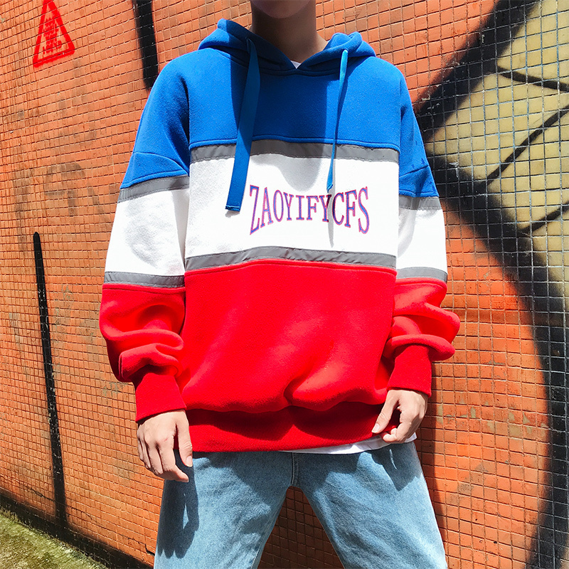 2018 The Autumn New Recommend casual Loose Even Long Sleeve Loose Male hoodies Coat Teenagers hip hop size M 3XL Fashion red in Hoodies amp Sweatshirts from Men 39 s Clothing