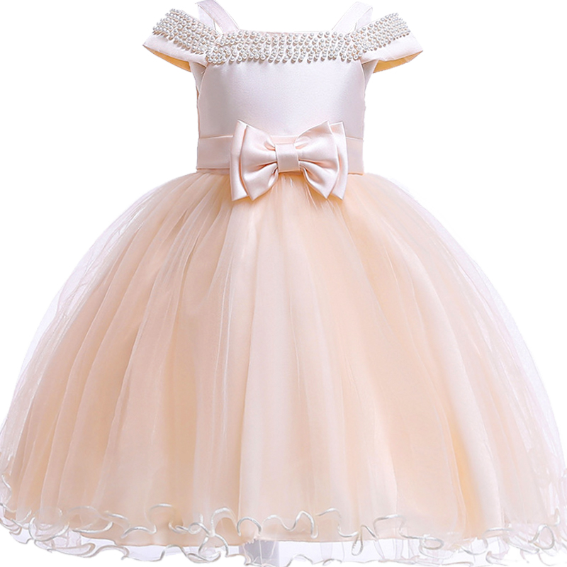 5cf6b12c75 2018 Petal Big Bow Satin Girls Princess wedding dress Baby kids princess  dresses for girls clothes Tutu dress Christmas costume-in Dresses from  Mother ...