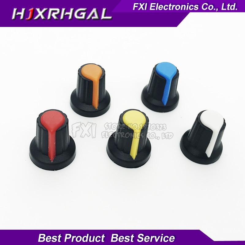 Integrated Circuits 20pcs Wh148 Potentiometer Knob Cap Yellow Orange Blue White Red 15x17mm Ag2 Knob Sale Price